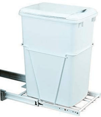 pull out kitchen trash cans with lids