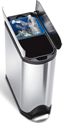 simplehuman dual compartment trash can