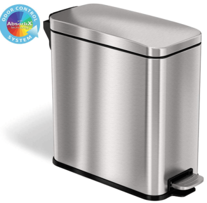 itouchless softstep stainless steel step trash can