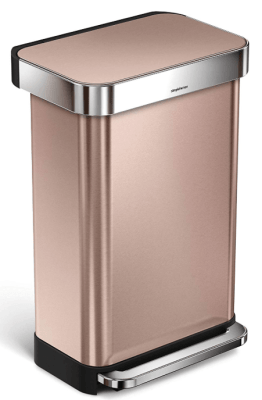 simplehuman rose gold garbage can
