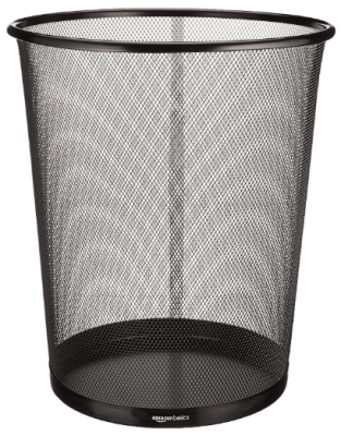 metal mesh trash can