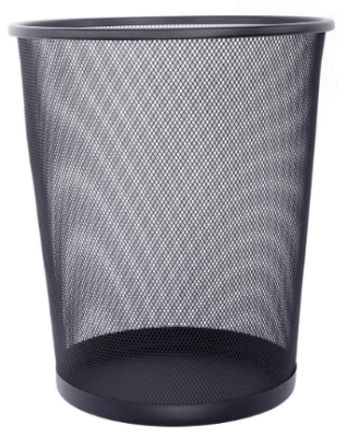 wire mesh trash can