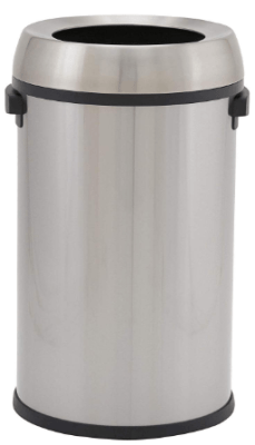 open top trash can