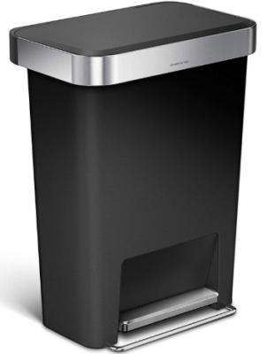 Simplehuman plastic trash can