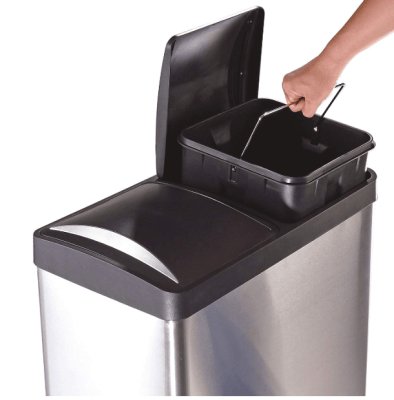 step n sort 16 gallon trash can