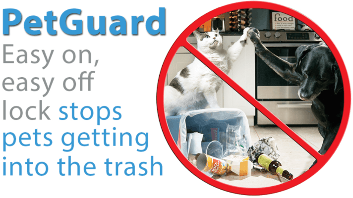 animal-proof outdoor garbage cans
