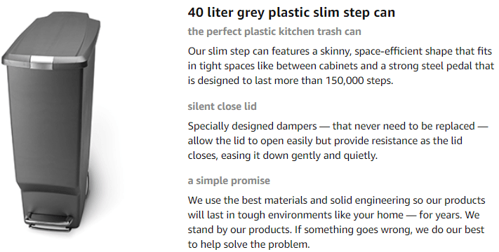 slim trash can