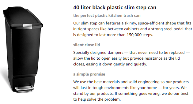 simplehuman step trash can