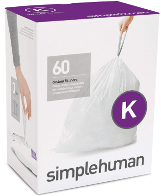 simplehuman trash can liners k