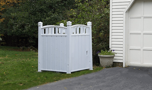 outdoor enclosure for garbage cans