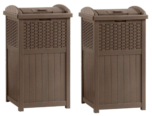 Outdoor Resin Wicker Trash Can