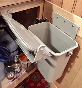 built in trash bin