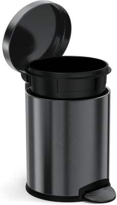 Black Stainless Steel Trash Can