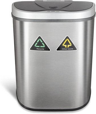 automatic dual trash can
