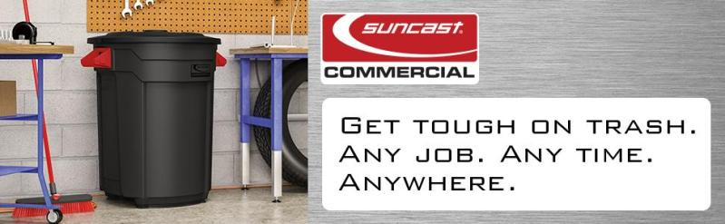 Suncast Commercial Utility Trash Can