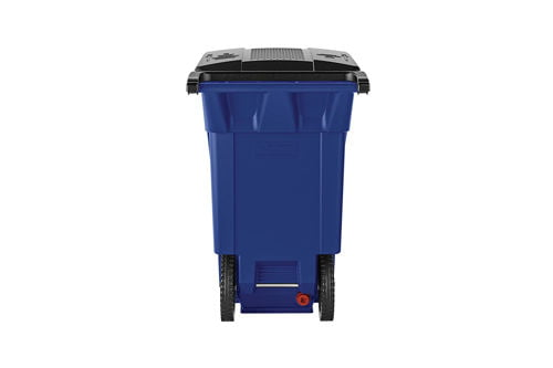 wheeled trash can
