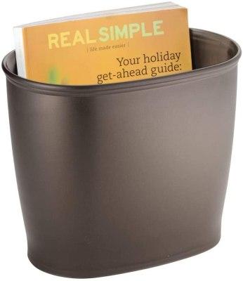 mDesign Modern Plastic trash can