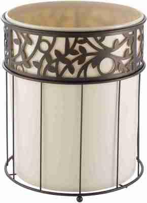 iDesign Vine Metal and Plastic Wastebasket Aesthetic Trash Can