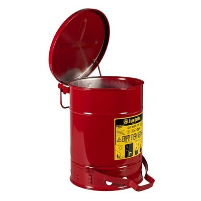 fire resistant trash can