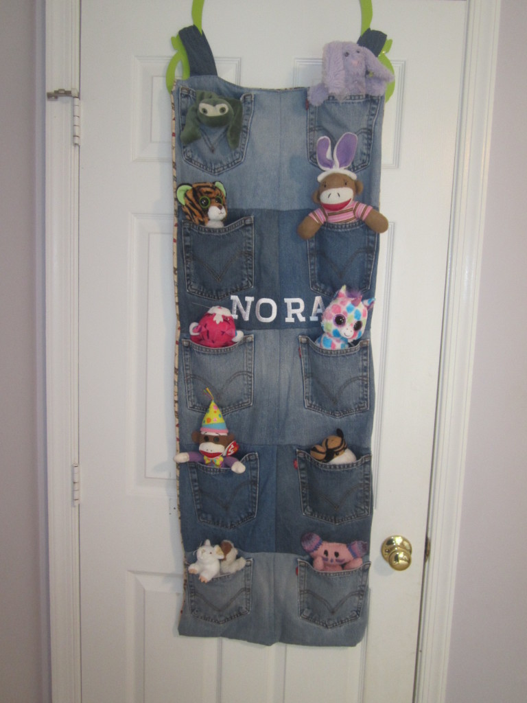 Toy Organizer From Recycled Denim Jeans Trashmagination
