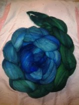"""""""Forested Skyline"""" 4 ounces Faux Cashmere (machine washable & dryable) $24.00"""