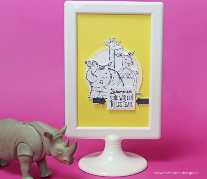 swirly frames_stampinup_wild auf grüße_nashorn_giraffe Bilderrahmen_ikea_Ananas_gelb_Incolor