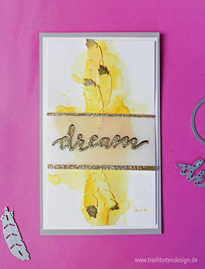 Federn_Follow your dreams_Bloghph_aquarell_herbst_stampinup_gold_embossing