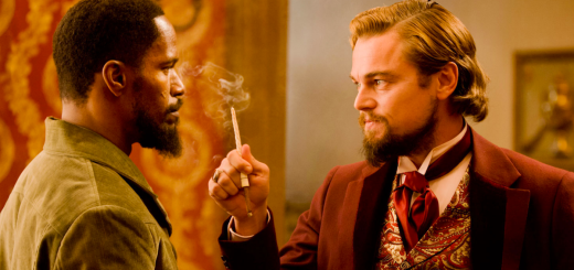 Leonardo DiCaprio and Jamie Foxx in DJANGO UNCHAINED