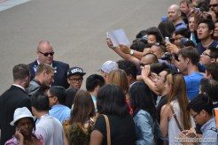 Aaron Eckhart greets fans at Comic Con 2013