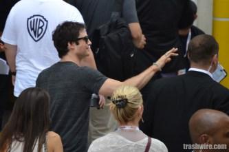 Ian Somerhalder greets fans at Comic Con 2013