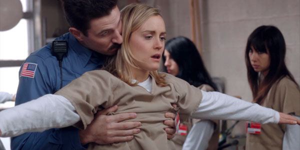 Taylor Schilling in Orange is the New Black on Netflix