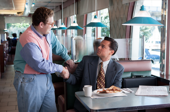 Jonah Hill and Leonardo DiCaprio in The Wolf of Wall Street