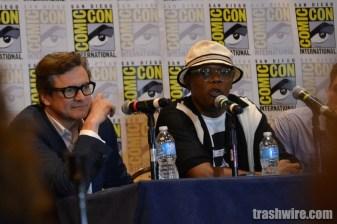 Colin Firth and Samuel L. Jackson at Comic Con 2014