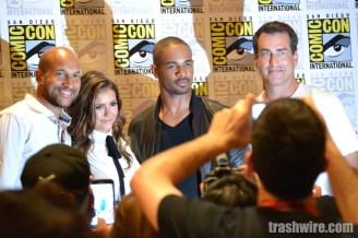 Keegan-Michael Key, Nina Dobrev, Damon Wayans Jr, and Rob Riggle at the Let's Be Cops press conference at Comic Con 2014