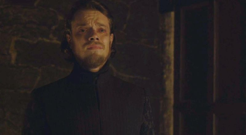 Reek/Theon Greyjoy (Alfie Allen) is forced to watch Sansa Stark being raped by Ramsay Bolton in Game of Thrones season 5