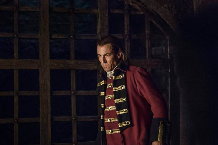 Tobias Menzies as Capt. Black Jack Randall in Starz's Outlander