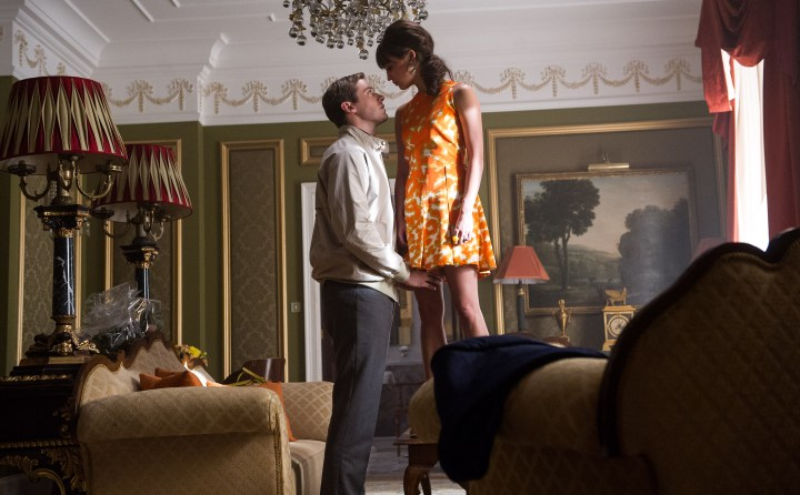 "ARMIE HAMMER as Illya and ALICIA VIKANDER as Gaby in Warner Bros. Pictures' action adventure ""THE MAN FROM U.N.C.L.E."