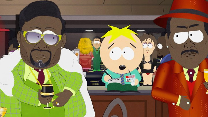 Butters attends a pimp convention in Butters Bottom Bitch episode of South Park