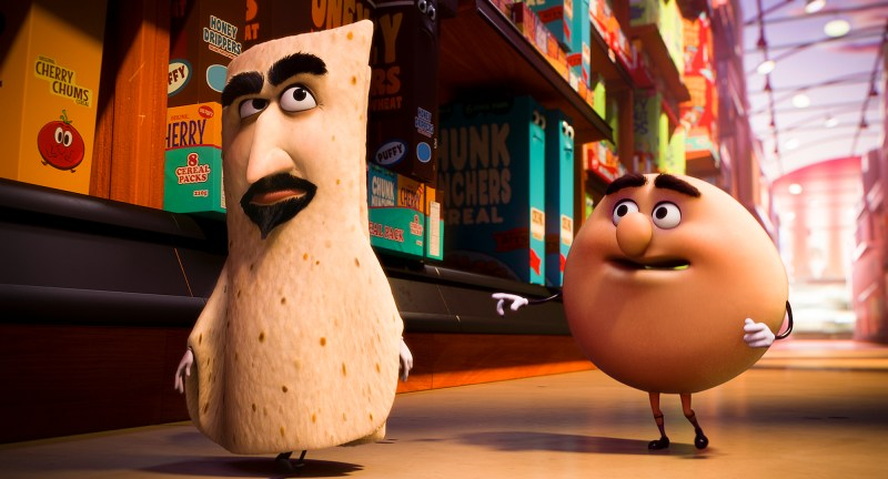 "Lavash (David Krumholtz) and Sammy (Edward Norton)  in Columbia Pictures' ""Sausage Party"""