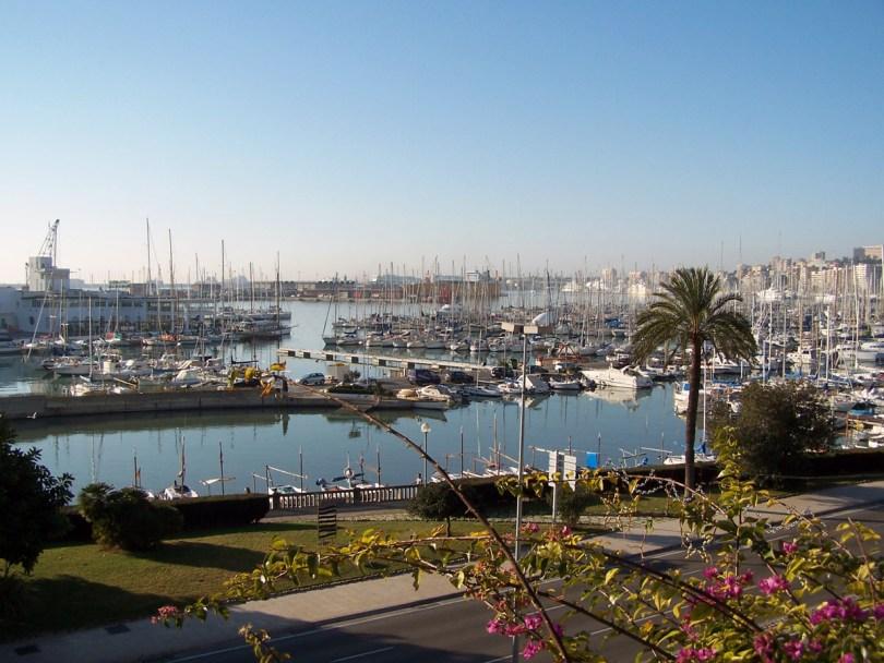 Una vista del Paseo Marítimo en Palma de Mallorca