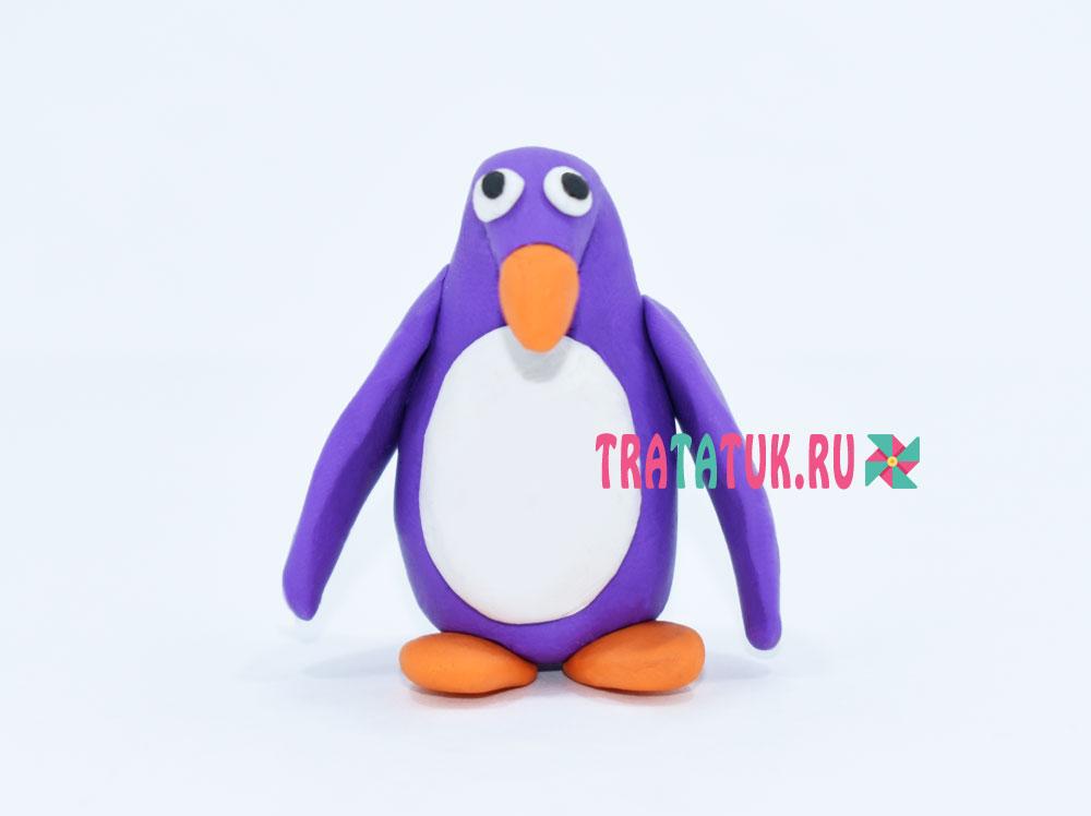 Пингвин пластилиннен