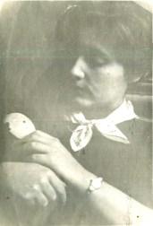 С куклой Мадлошей. Москва, Страстной бульвар, 1953