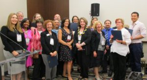 Executive Committee members at the Division 56 reception