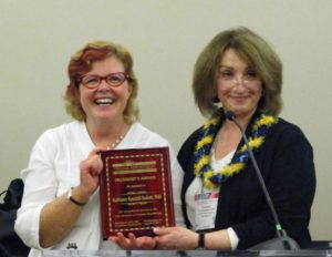President's Award to Kathy Kendall Tackett for Invaluable Service to the Division from president Elizabeth Carll