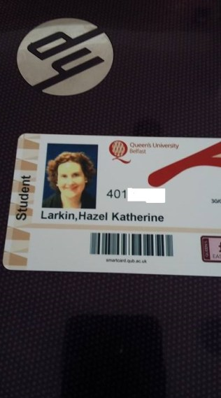 Pic of Student Card number erased