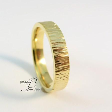 Trauring Rinde breit Gold 2-1