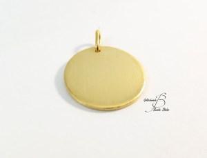 Gravuranhänger gold rund