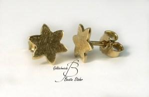 Ohrstecker Sterne gelbgold