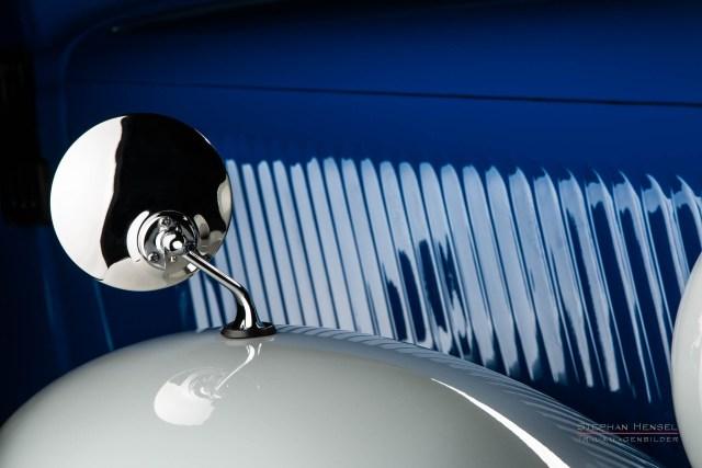 Mercedes-Benz 170 V, Baujahr 1949, Detailansicht, Motorhaube rechts, Oldtimer, Autofotografie: Stephan Hensel, Hamburg, Oldtimerfotograf, Autofotograf, Automobilfotograf, Oldtimerfotografie