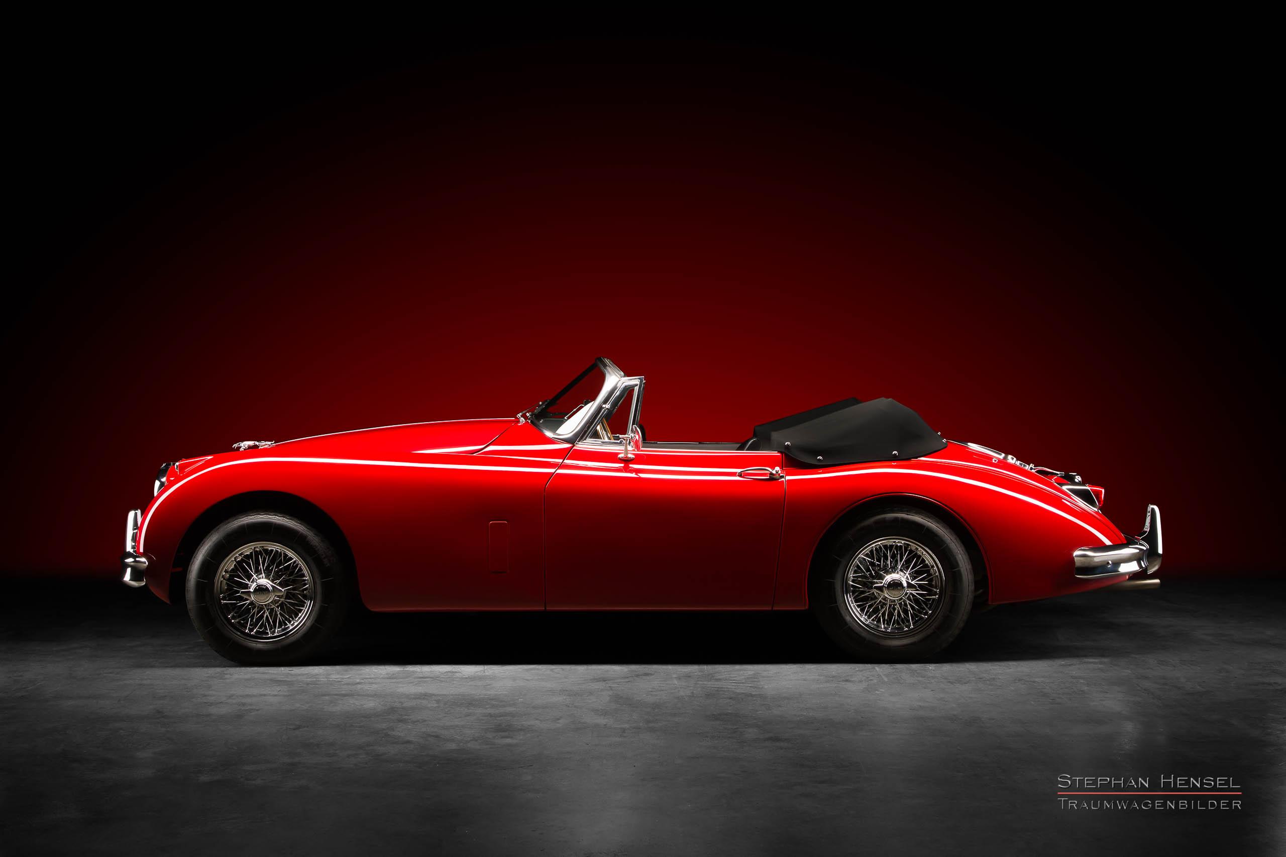 Jaguar XK 150 DHC, 1958, Seitenansicht, Autofotograf, Hamburg, Automobilfotograf, Oldtimerfotograf, Oldtimerfotografie, Car Photography, Stephan Hensel